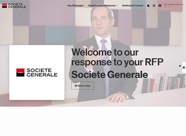 SG Markets Services - Service RFP e-Response